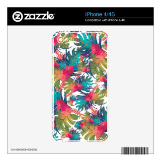 Tropical Pattern Skins For The iPhone 4