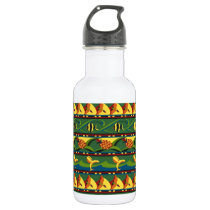 Tropical Pattern Stainless Steel Water Bottle