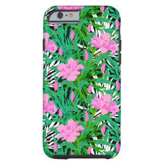 Tropical Pattern With Jungle Flowers iPhone 6 Case