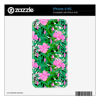 Tropical Pattern With Jungle Flowers iPhone 4 Skins