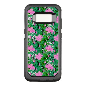 Beach Themed Tropical Pattern With Jungle Flowers OtterBox Commuter Samsung Galaxy S8 Case