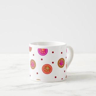 Tropical Paw Prints 6 Oz Ceramic Espresso Cup