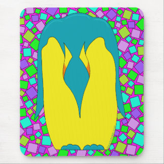 Tropical Penguin Colorful Mouse Pad