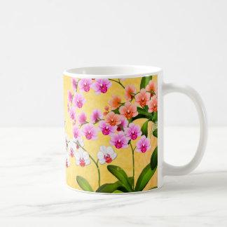 Tropical Phalaenopsis Orchid Flowers Mug