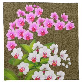 Tropical Phalaenopsis Orchid Flowers Napkins