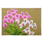 Tropical Phalaenopsis Orchid Flowers Placemat Cloth Placemat