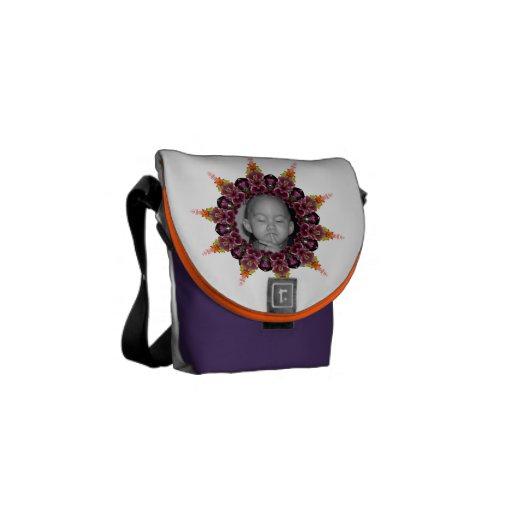 Tropical Photo Frame Mandala Messenger Bag