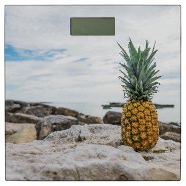 Beach Themed Tropical Pineapple at the Beach Bathroom Scale