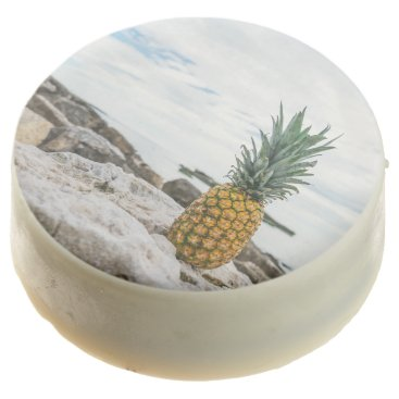 Beach Themed Tropical Pineapple at the Beach Chocolate Dipped Oreo