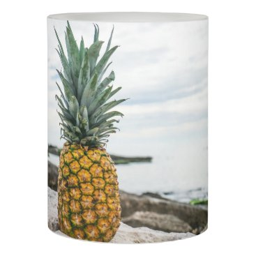 Beach Themed Tropical Pineapple at the Beach Flameless Candle