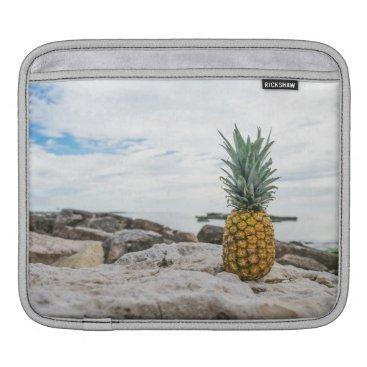 Beach Themed Tropical Pineapple at the Beach iPad Sleeve