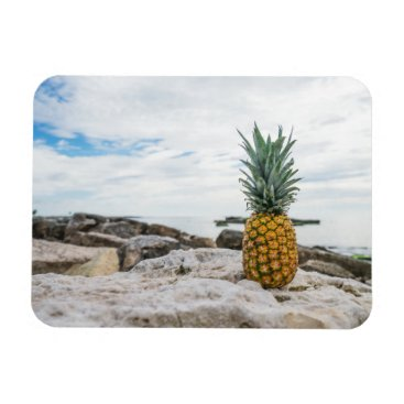 Beach Themed Tropical Pineapple at the Beach Magnet