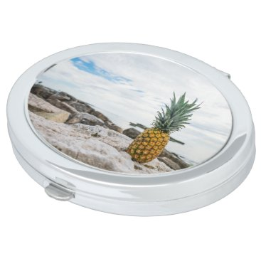 Beach Themed Tropical Pineapple at the Beach Makeup Mirror