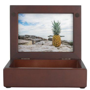 Beach Themed Tropical Pineapple at the Beach Memory Box