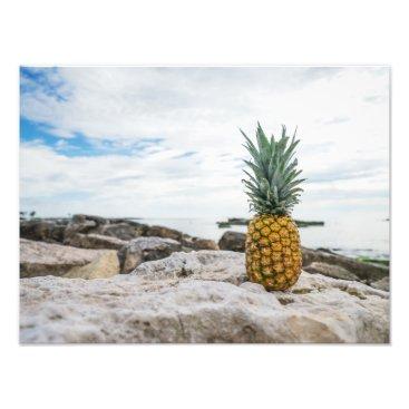 Beach Themed Tropical Pineapple at the Beach Photo Print