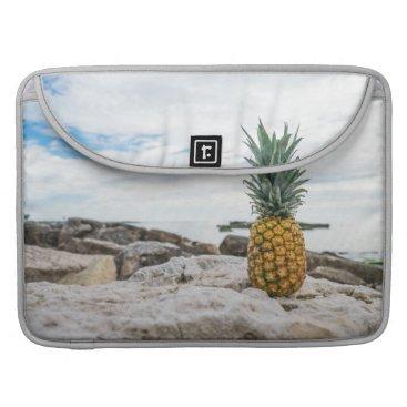 Beach Themed Tropical Pineapple at the Beach Sleeve For MacBooks