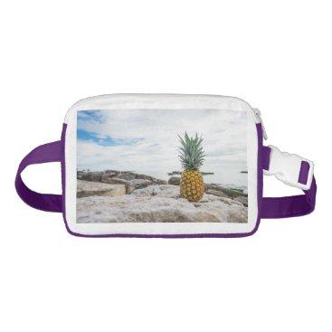 Beach Themed Tropical Pineapple at the Beach Waist Bag