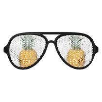Tropical pineapple aviator sunglasses
