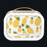 """Tropical Pineapple Back to School Lunch Lunch Box<br><div class=""""desc"""">Back to school lunchbox in our summer inspired pineapple pattern design. This adorable lunchbox can be personalized with your daughter&#39;s name. Visit our store to see all of our other back to school products in this design.</div>"""