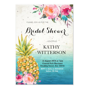 tropical bridal shower invitations zazzle