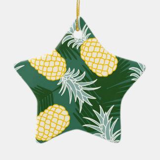 Tropical pineapple ceramic ornament