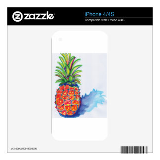 Tropical Pineapple Decals For The iPhone 4S