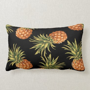 Beach Themed Tropical Pineapple Decorative Throw Pillow