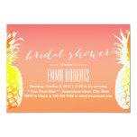 Tropical Pineapple Elegant Bridal Shower Card
