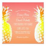 Tropical Pineapple Elegant Wedding Invitations