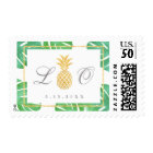 Tropical Pineapple Gold Wedding Postage Stamps