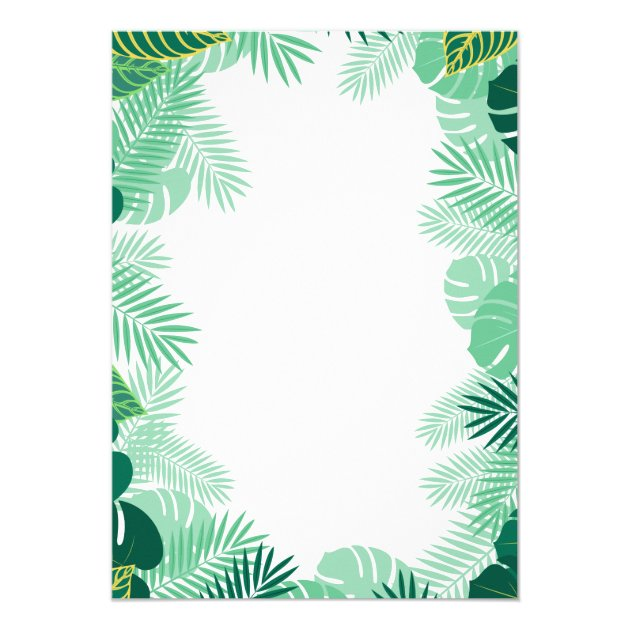 Tropical Pineapple Hawaiian Hibiscus Bridal Shower Card (back side)