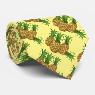 Tropical Pineapple Hawaiian Pattern Aloha Neck Tie