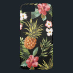 "Tropical Pineapple Hibiscus Flowers iphone Cover<br><div class=""desc"">Protect your iphone 6 with our pineapple &amp; tropical hibiscus flowers pattern case. Our tropical floral pattern has a transparent background making it possible for you to change the color. Just click on customize and use the eyedropper tool to pick a color.</div>"