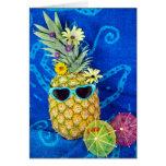 Tropical Pineapple Humor Card