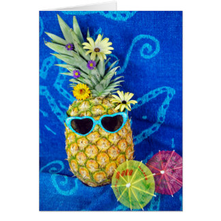 Tropical Pineapple Humor Card