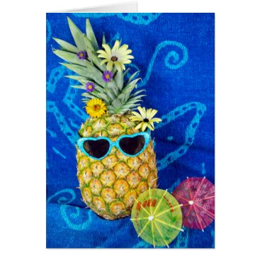 Valentines Themed Tropical Pineapple Humor Card