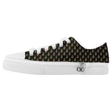 Hawaiian Themed Tropical Pineapple Low Top Shoes