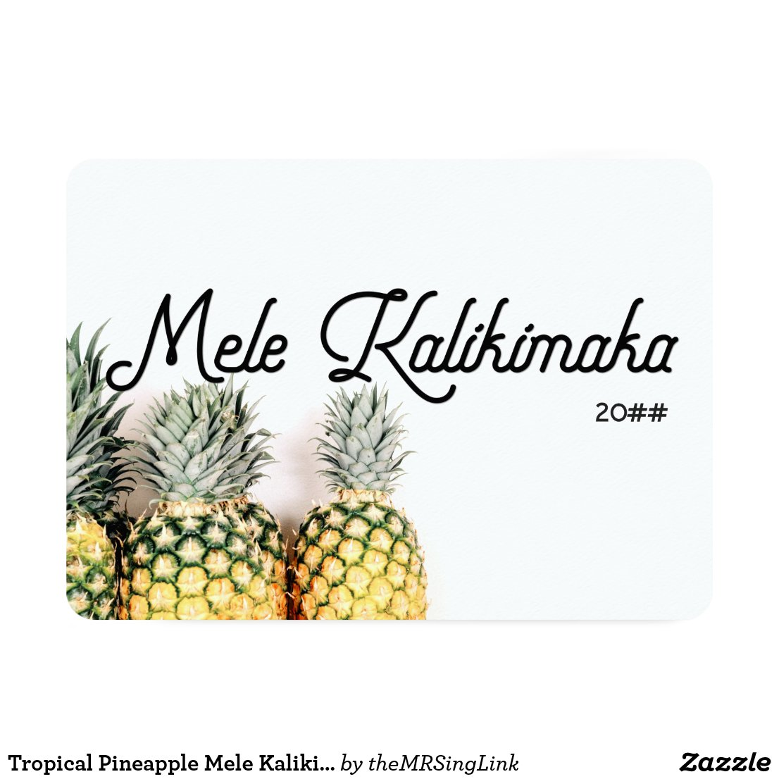 Tropical Pineapple Mele Kalikimaka Christmas Card