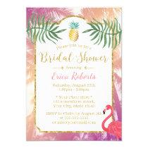 Tropical Pineapple & Palm Trees Bridal Shower Invitation