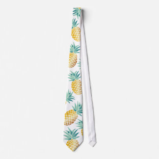 Tropical Pineapple Pattern Aloha Neck Tie