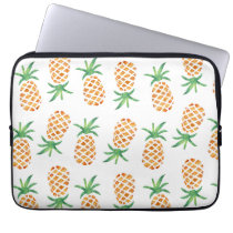 Tropical Pineapple Pattern Laptop Sleeve
