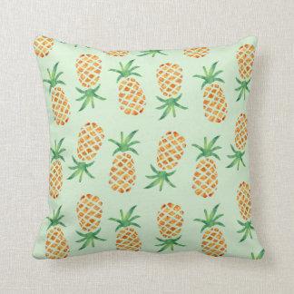 Tropical Pineapple Pattern Print Throw Pillow