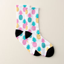 Tropical Pineapple Pattern Socks