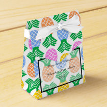 Tropical Pineapple pattern Wedding Favor Box