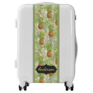 Tropical Pineapple Patterned Personalized Luggage
