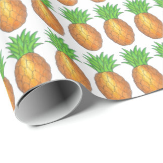 Tropical Pineapple Pineapples Wrapping Paper