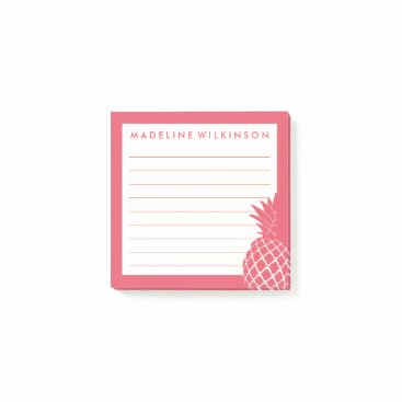 Beach Themed Tropical Pineapple Post-it Notes