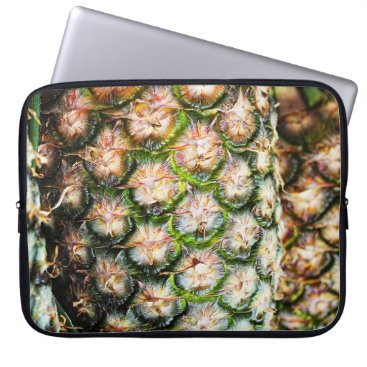Beach Themed Tropical Pineapple Punch Texture. Laptop Sleeve