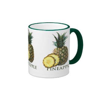 Tropical Pineapple Ringer Coffee Mug