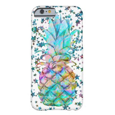 Tropical Pineapple Stars Color Splash Barely There iPhone 6 Case